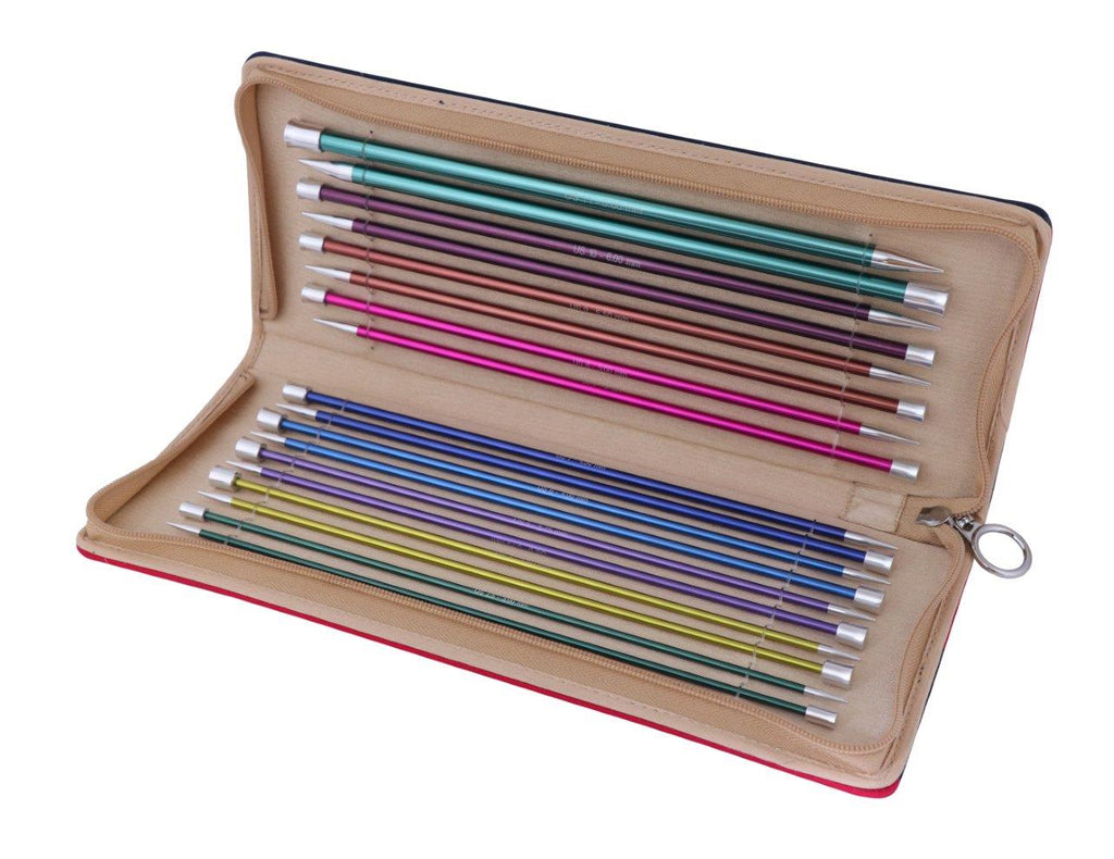 "Knitter's Pride - Zing - 10"" Single Point Needle Set (140304)"