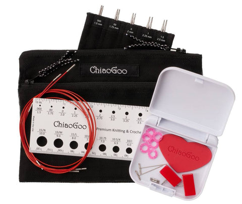 "ChiaoGoo - 5"" TWIST Interchangeable Needle Set Red Lace Mini US 000-1.5 (1.50mm-2.50mm)"