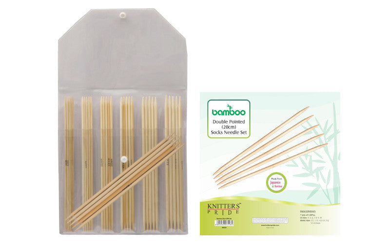 "Knitter's Pride - Bamboo - 8"" Double Pointed Needle Set - 900526"