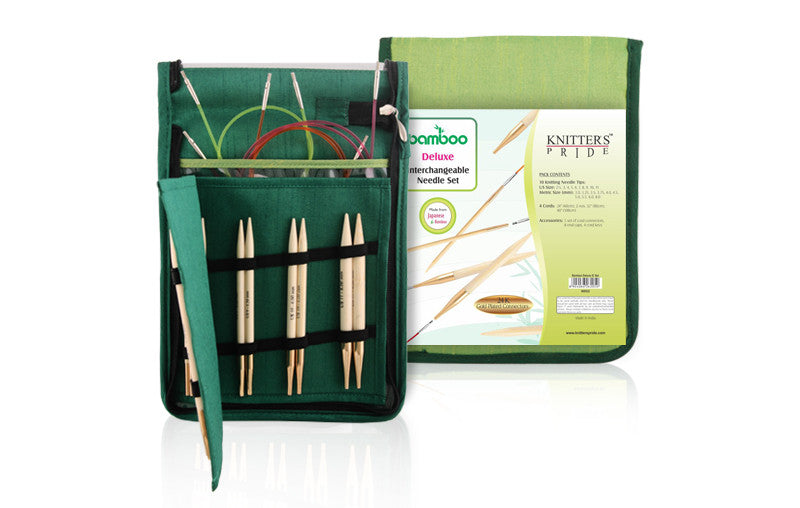 "Knitter's Pride - Bamboo - 4.5"" Interchangeable Needle Set Deluxe"