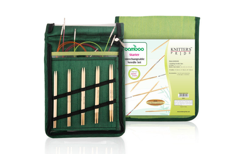 "Knitter's Pride - Bamboo - 4.5"" Interchangeable Needle Set Starter"