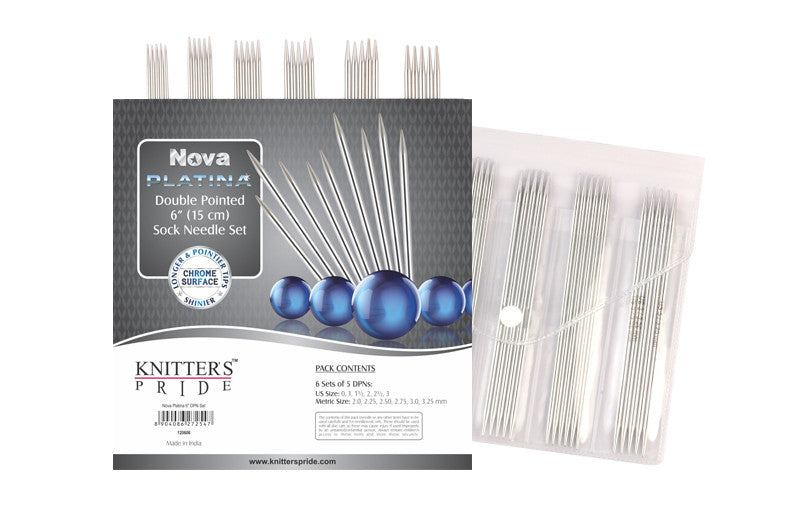 "Knitter's Pride - Nova Platina - 6"" Double Pointed Needle Sock Set - 120606"