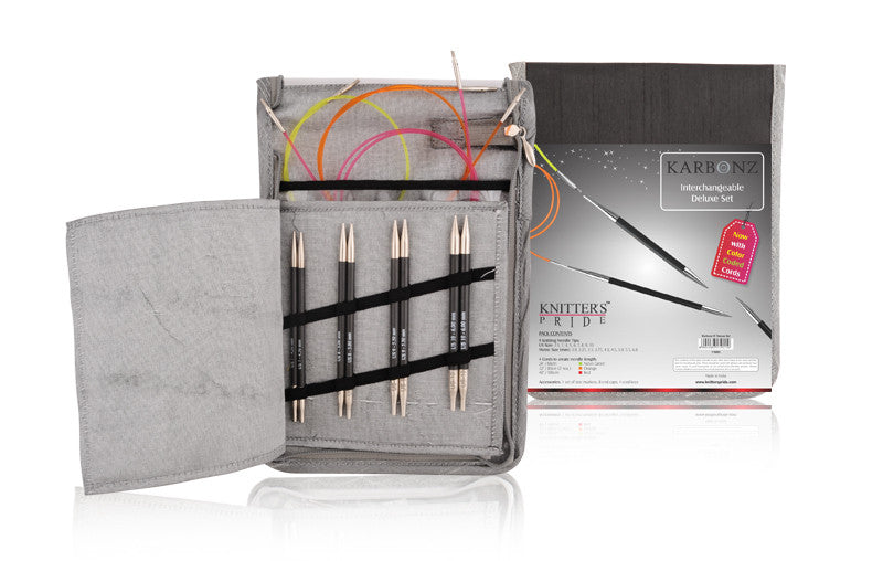 "Knitter's Pride - Karbonz - 4.5"" Interchangeable Needle Set Deluxe"