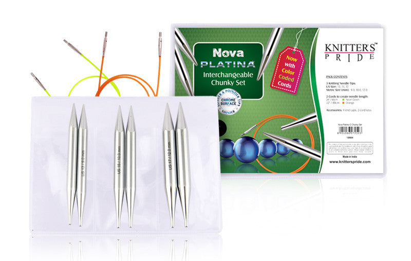 "Knitter's Pride - Nova Platina - 4.5"" Interchangeable Needle Set Chunky - 120604"