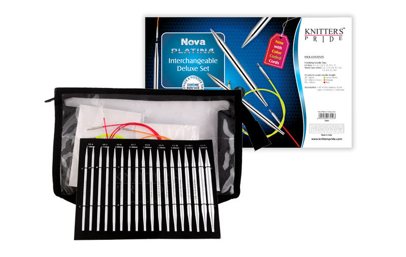 "Knitter's Pride - Nova Platina - 4.5"" Interchangeable Needle Set Deluxe - 120601"
