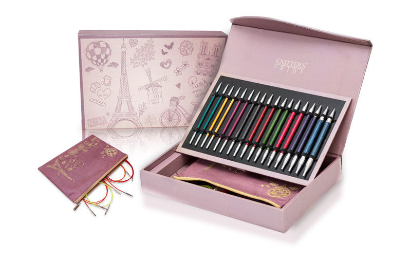 "Knitter's Pride - Royale - 4.5"" Interchangeable Needle Set Deluxe Luxury Gift Set in Paris Wooden Box"