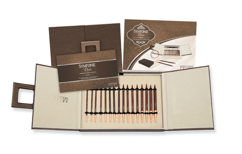 Knitter's Pride - Symfonie Rose -  Interchangeable Set Deluxe in Faux Leather Box