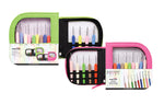 Knitter's Pride - Waves - Crochet Hook Set (Single Ended) in Neon Green Faux Leather Bag