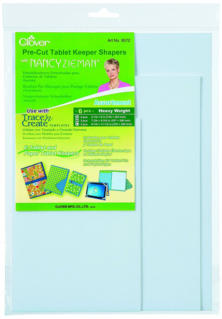Clover - Trace 'n Create Pre-Cut Tablet Keeper Shapers (Large Set)