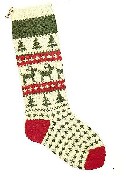 Christmas Stocking Santa's Reindeer