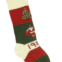 Christmas Stocking Original Santa & Tree