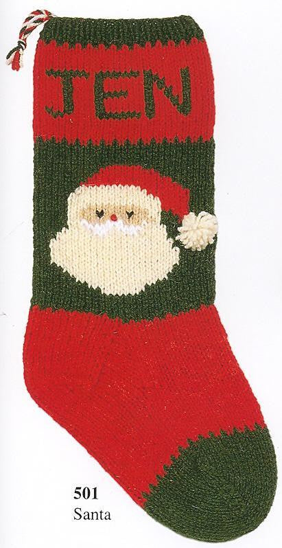 Christmas Stocking Santa's Face