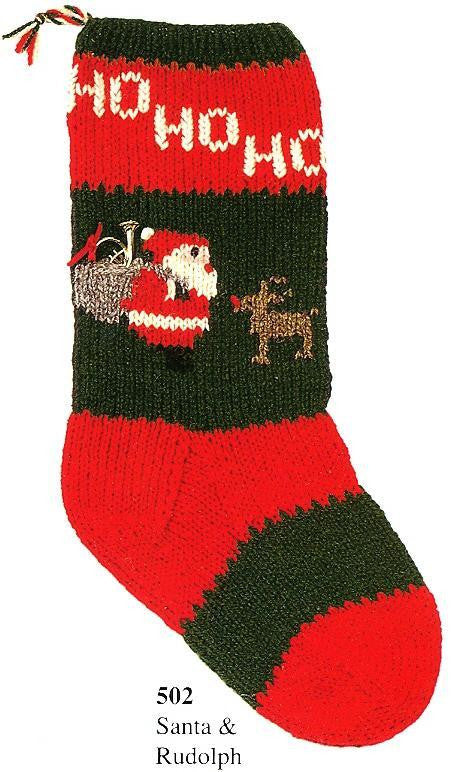Christmas Stocking Santa & Rudolph