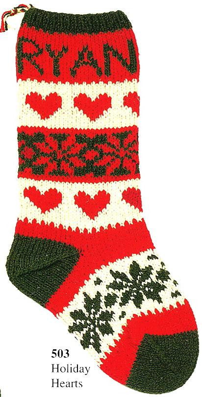 Christmas Stocking Holiday Hearts