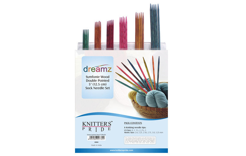 "Knitter's Pride - Dreamz - 5"" Double Pointed Needle Sock Set"