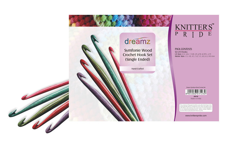 "Knitter's Pride - Dreamz - 6"" Single Ended Crochet Set"