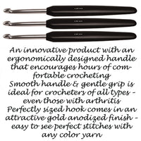 "Knitter's Pride - 6"" Crochet Hook -Silver Soft Touch"