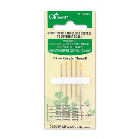 Clover - Self Threading Needles, Assorted