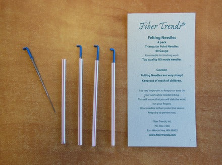 Fiber trends - Felting Needles - 40G - 4 Pack - Blue