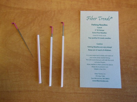 Fiber trends - Felting Needles - 42G - 3 Pack - Pink