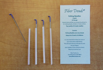 Fiber Trends - Felting Needles - 32G Reverse - 4 pack - Purple