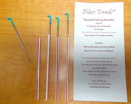 Fiber Trends - Felting Needles - 40G Twisted - 4 Pack - Aqua