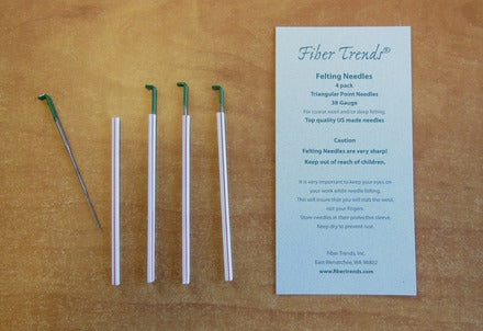 Fiber trends - Felting Needles - 38G - 4 Pack - Green