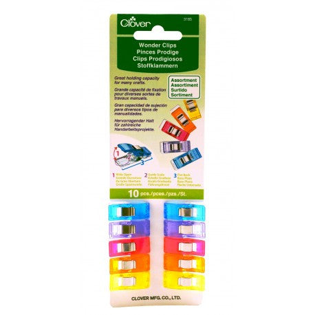 Clover - Wonder Clip, 10pc Asstd