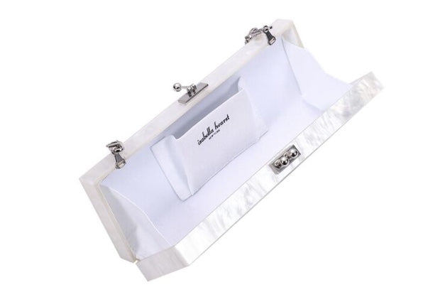 Hamptons Clutch White/Silver
