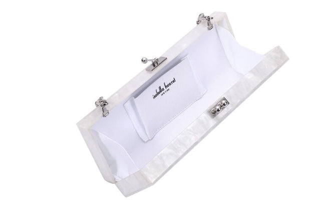 Just Married acrylic clutch