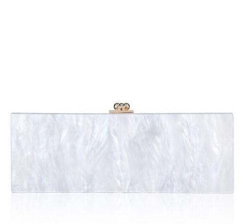 Hamptons Clutch White/Gold