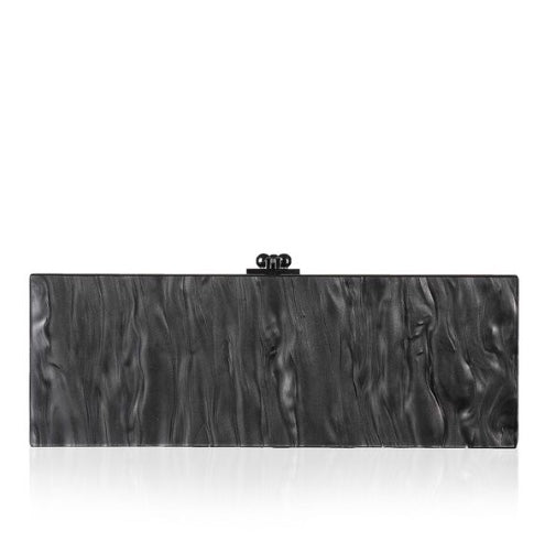 Reserved acrylic clutch