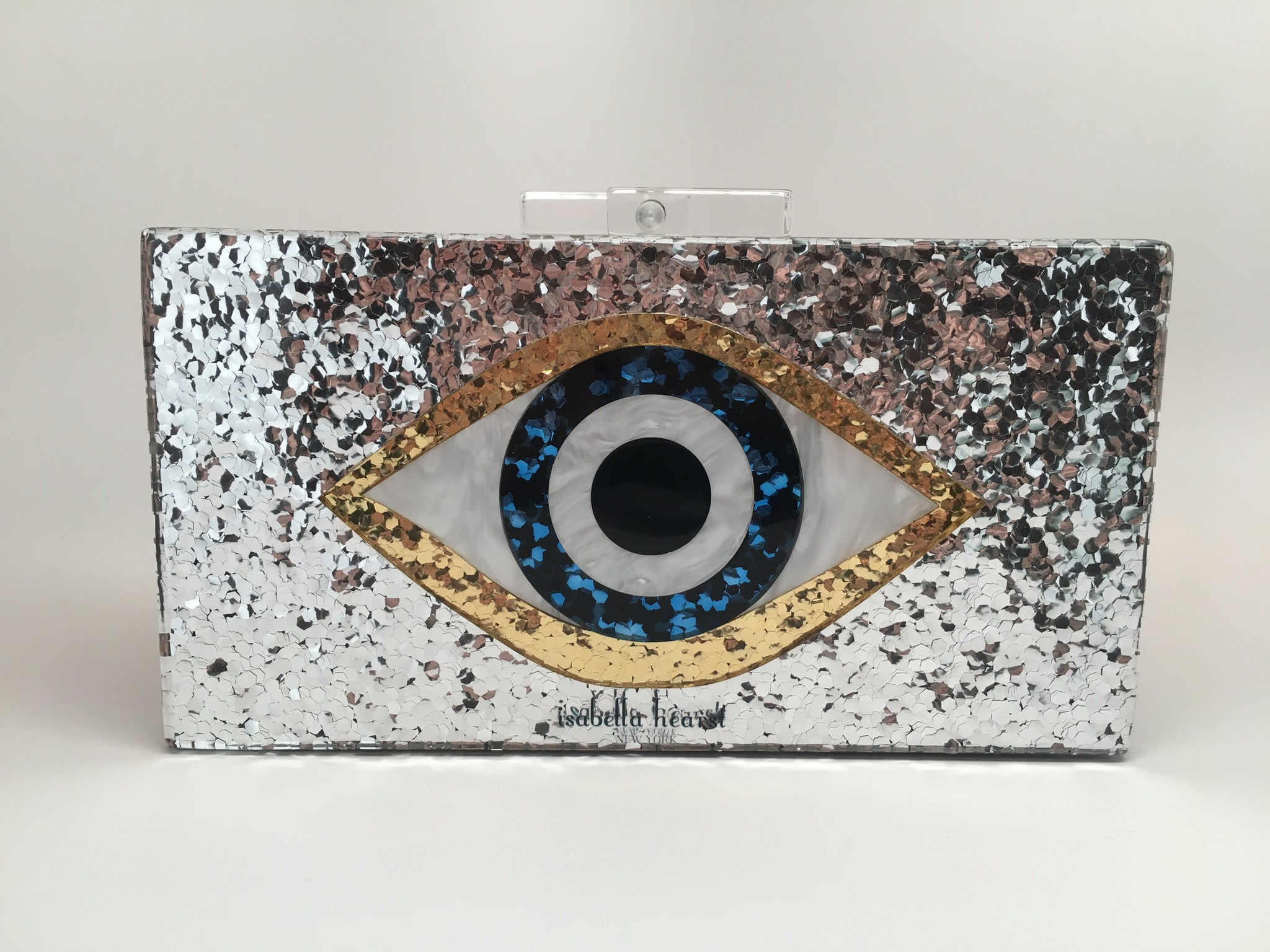 Eye evening acrylic clutch