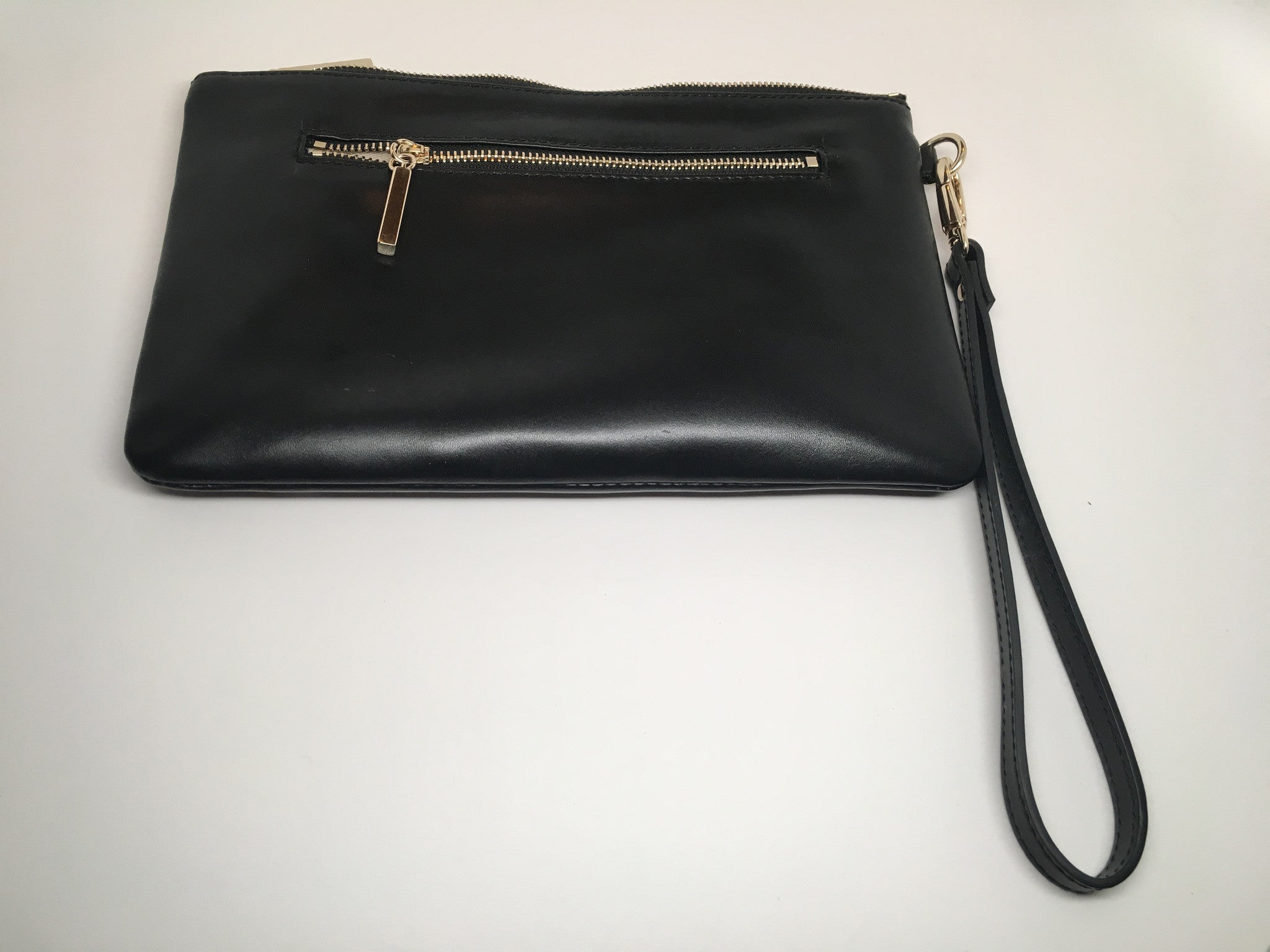 One of a kind isabella hearst leather clutch