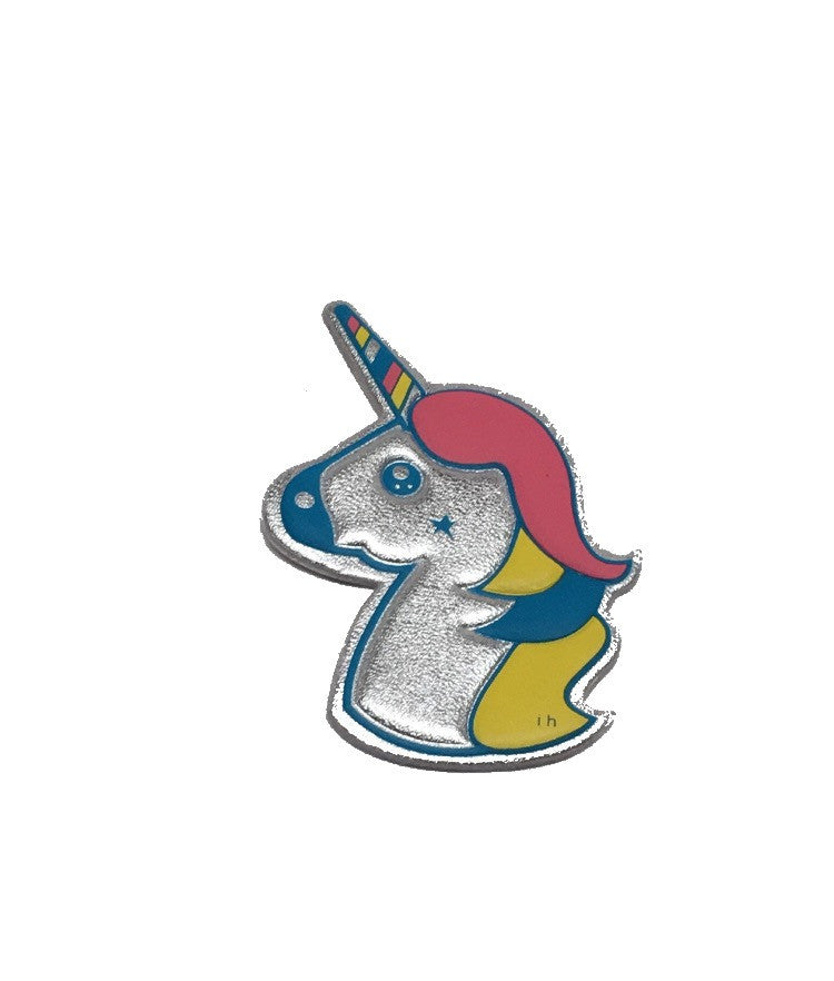 Unicorn goatskin leather sticker