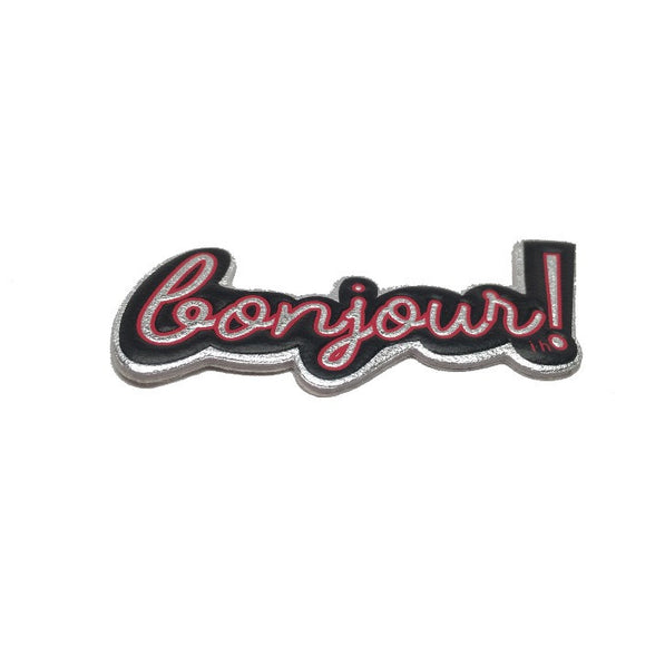 Bonjour! Goatskin leather sticker