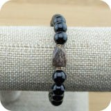 Black Onyx Yoga Jewelry Bracelet with Bronzite - Meditative Wisdom