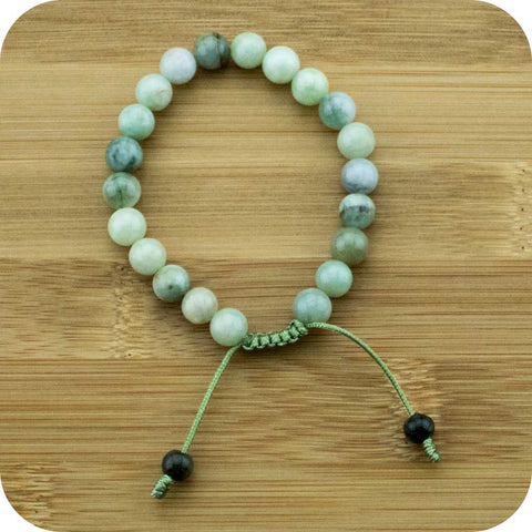 Multi-Colored Jade Yoga Beads Bracelet (Jadeite) - Meditative Wisdom