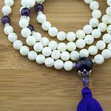 Mother of Pearl Mala with Amethyst
