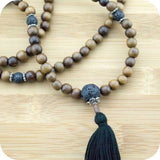Robles Wood Mala with Lava Rock