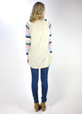 3/4 Striped Sleeve Baseball Tee