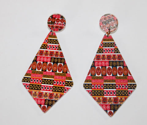 "The ""Vacation Festival"" Collection Earrings-Trinidad and Tobago"