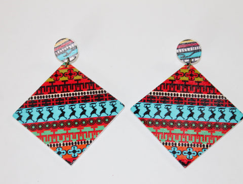 "The ""Vacation Festival"" Collection Earrings-Haiti"