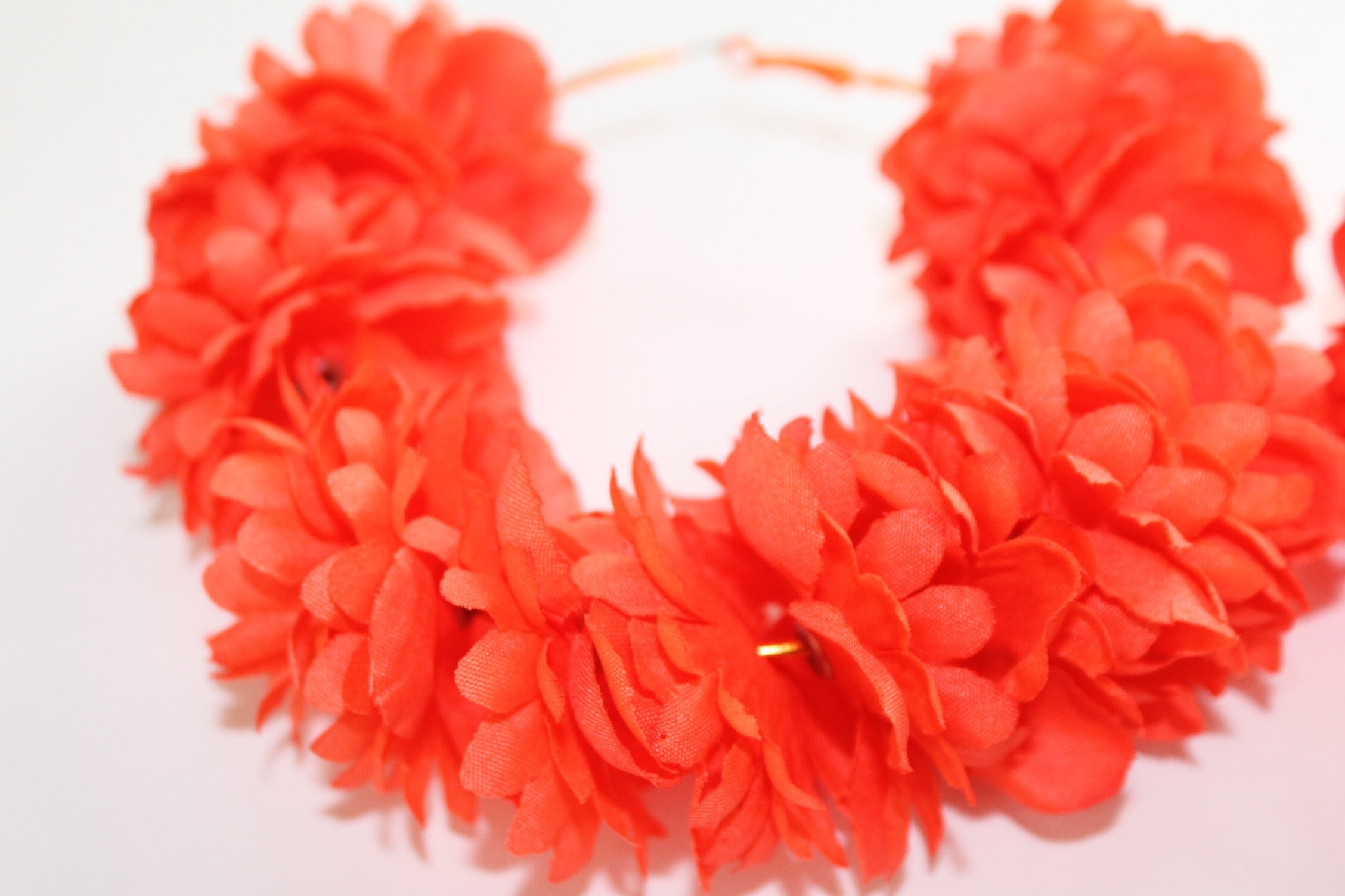 Tropical Hoop Earrings-Coral