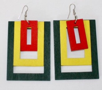 Hollywood Squares Earrings-Multicolor