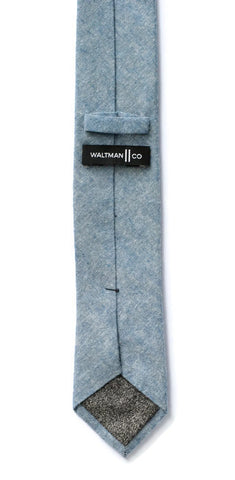 Blue Textured Cotton Tie
