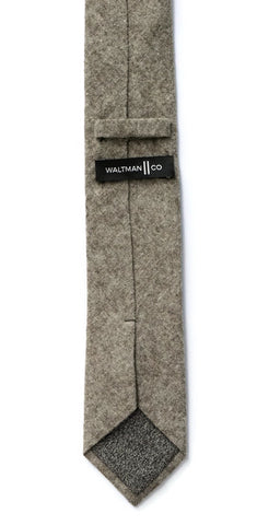 Grey Textured Cotton Tie