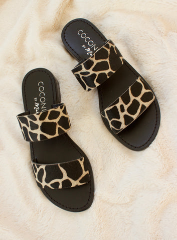 DOUBLE STRAP SLIDE - GIRAFFE