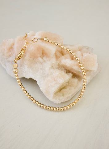PETITE GOLD BEADED KIDS BRACELET