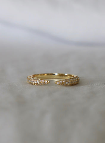 OPEN CZ CLAW RING